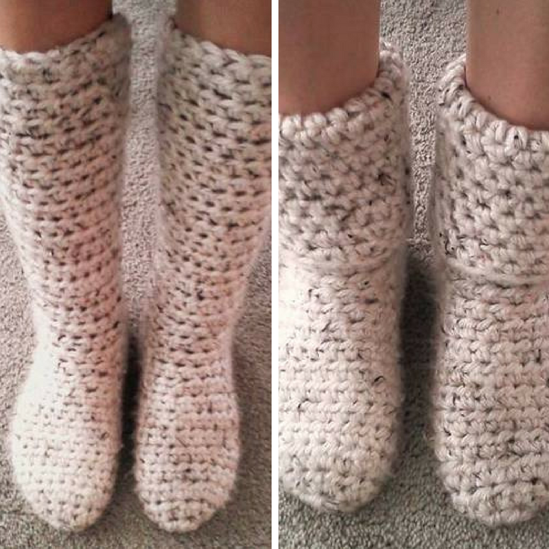 Free Pattern] The Easiest And Fastest Way To Make Super Cozy Slipper ...