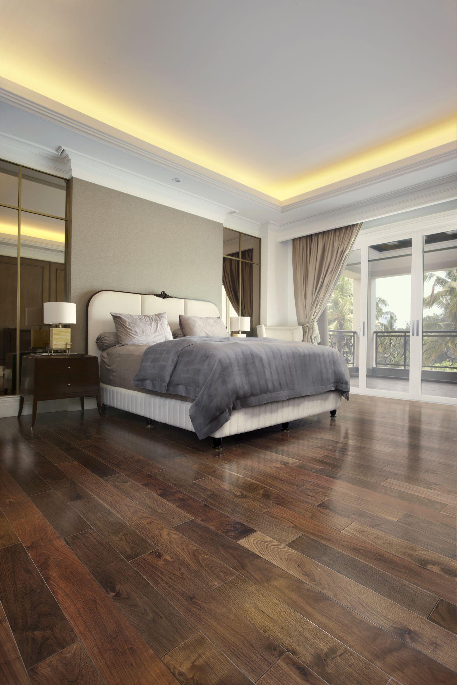 Engineered American Black Walnut Flooring In Natural Acrylic