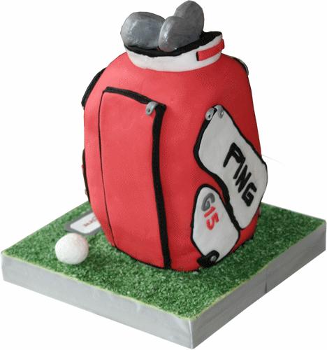 Ping Golf Bag Novelty Sculptured Birthday Cake