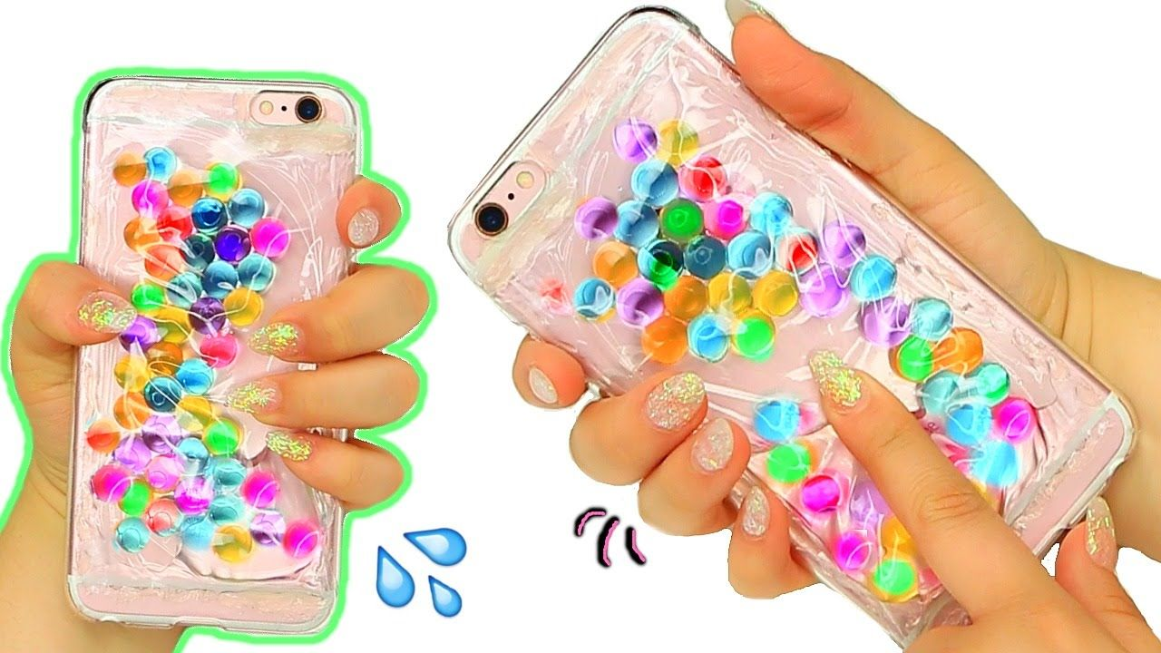 Diy liquid orbeez phone case squishy liquid orbeez phone for How to make phone cases at home