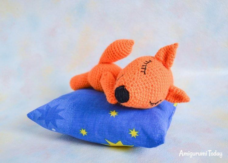 FREE dormir zorro amigurumi patrón | Animalitos Tejidos | Pinterest ...