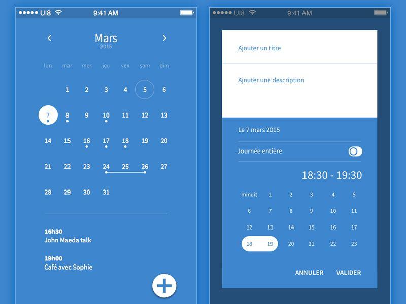 Calendar App Design : Awesome material design concepts calendar app