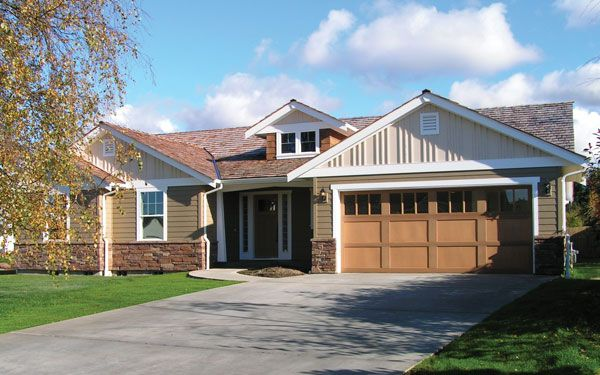 ranch house plans ranch style homes house plans and more - Craftsman Ranch Home Exterior