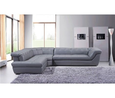 Fantastisch Grau Leder Sectional Sofa
