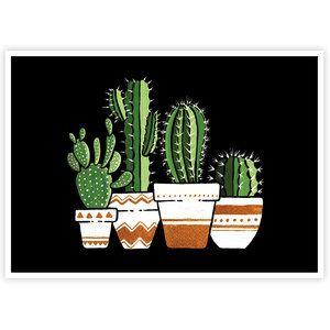 Cactus In The Night | Art Print #077 | Boelter Design Co.