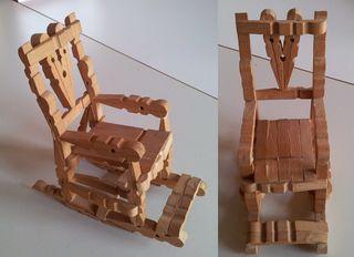 schaukelstuhl - stuhl, bestalarbeit, basteln, klammern, Moderne