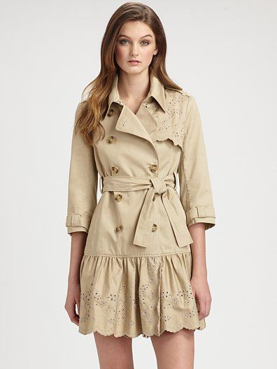 RED Valentino - Embroidered Trenchcoat