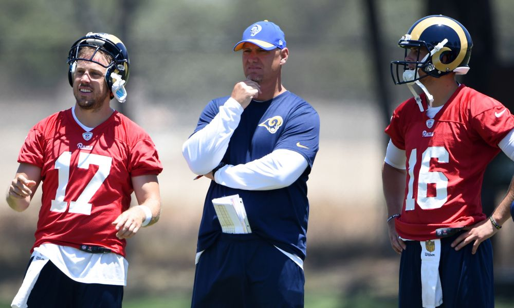 Look Jared Goff Case Keenum Joined In At Tavon Austin S Camp Usa Today Sports Team Activities Jared Goff