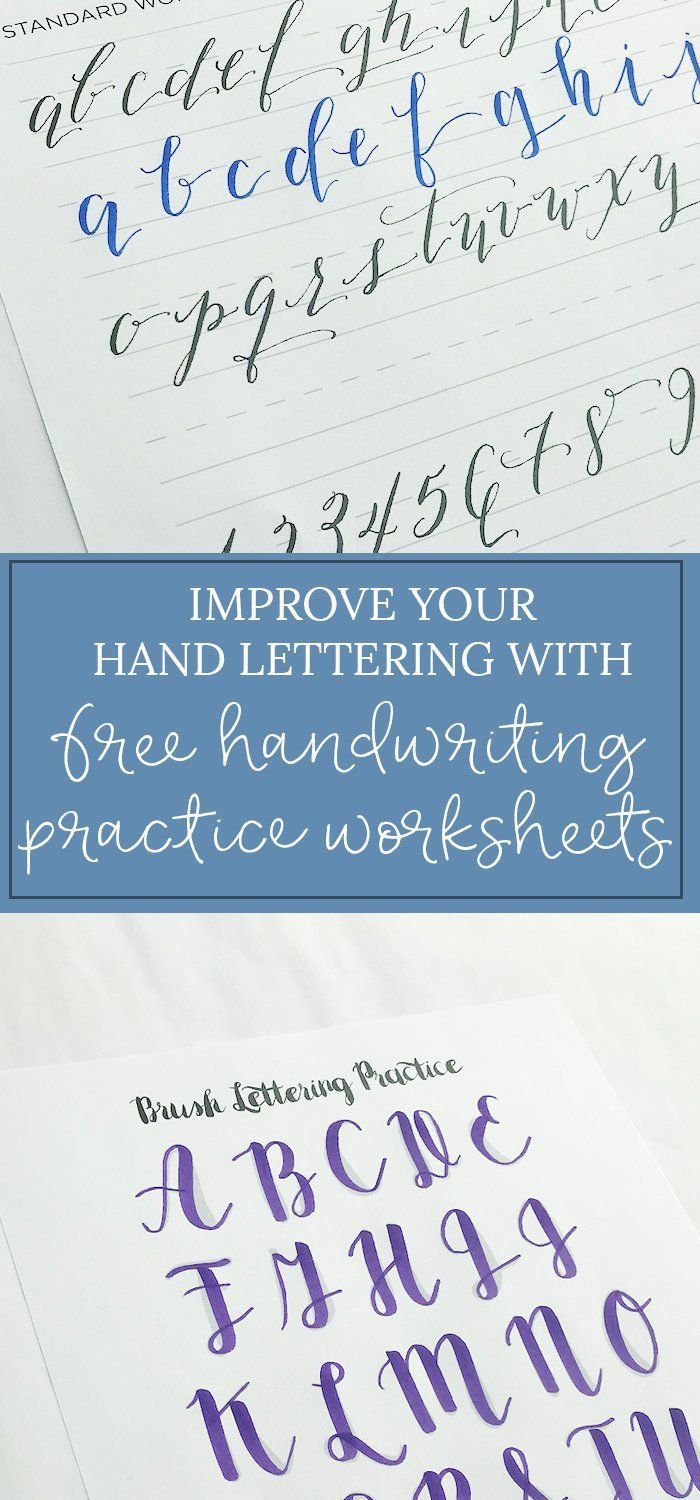 Free Handwriting Practice Sheets -- You can improve your hand ...