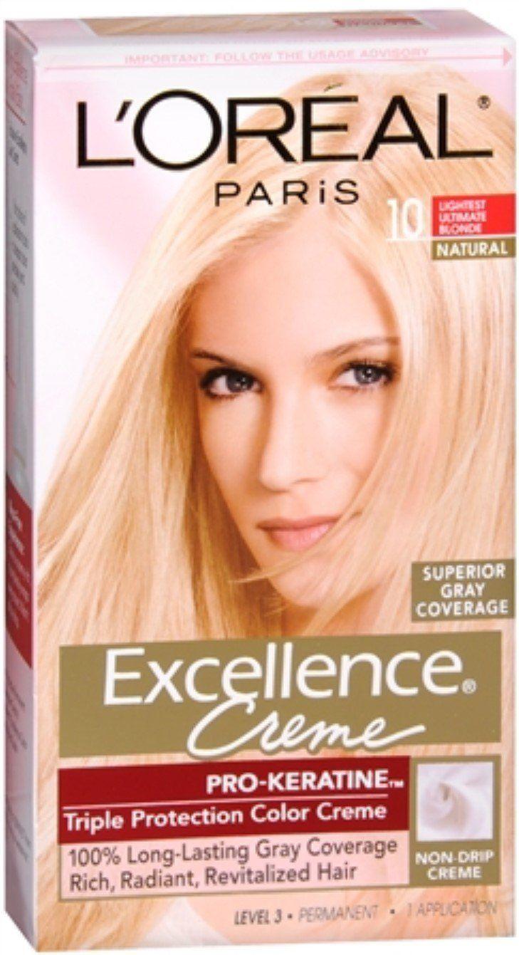L Oreal Paris Excellence Creme Haircolor Lightest Ultimate Blonde 10 1 Ea