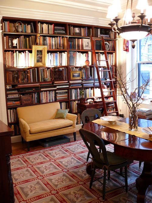 Living Room Library Design Ideas: Dining In The Library: When Dining Rooms Are Libraries