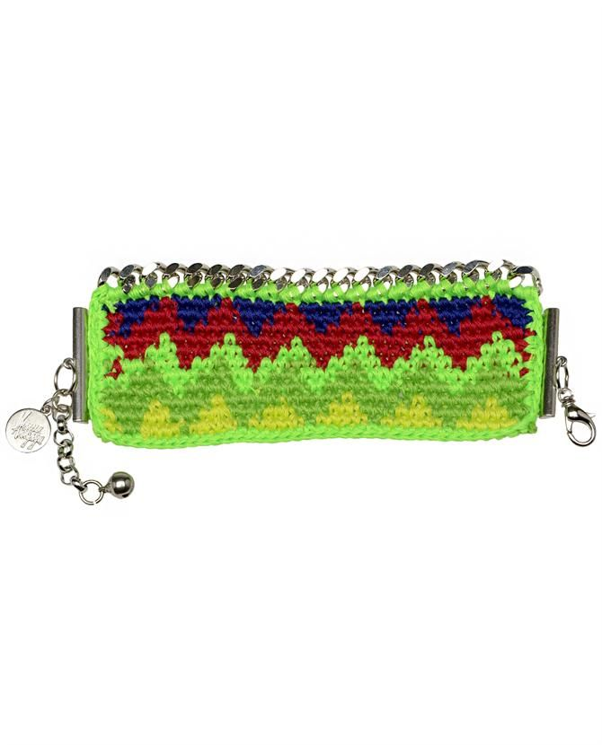 VENESSA  ARIZAGA | 'Aztec Heart' Crochet Cuff