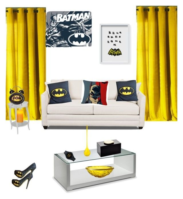"""""""BATMANLOVER"""" by cathynmy5 ❤ liked on Polyvore featuring interior, interiors, interior design, home, home decor, interior decorating, Kensie, Home Decorators Collection, Kartell and Klein & more"""