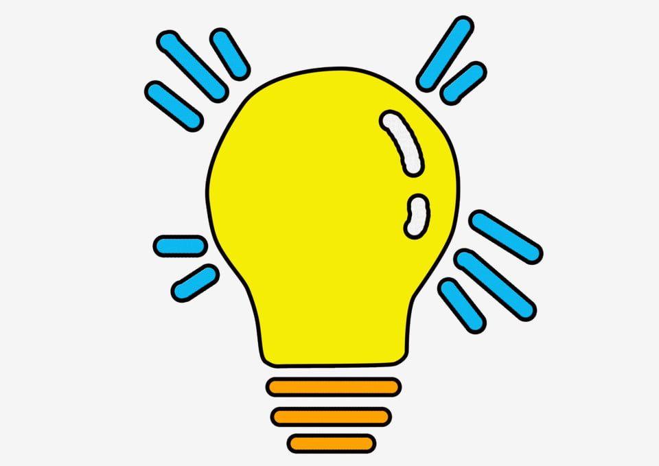 Bulb Hand Drawn Pop Style Yellow Light Bulb Light Bulb Hand Clipart Drawn Clipart Light Clipart Light Bulb Graphic Bulb Light Bulb Art