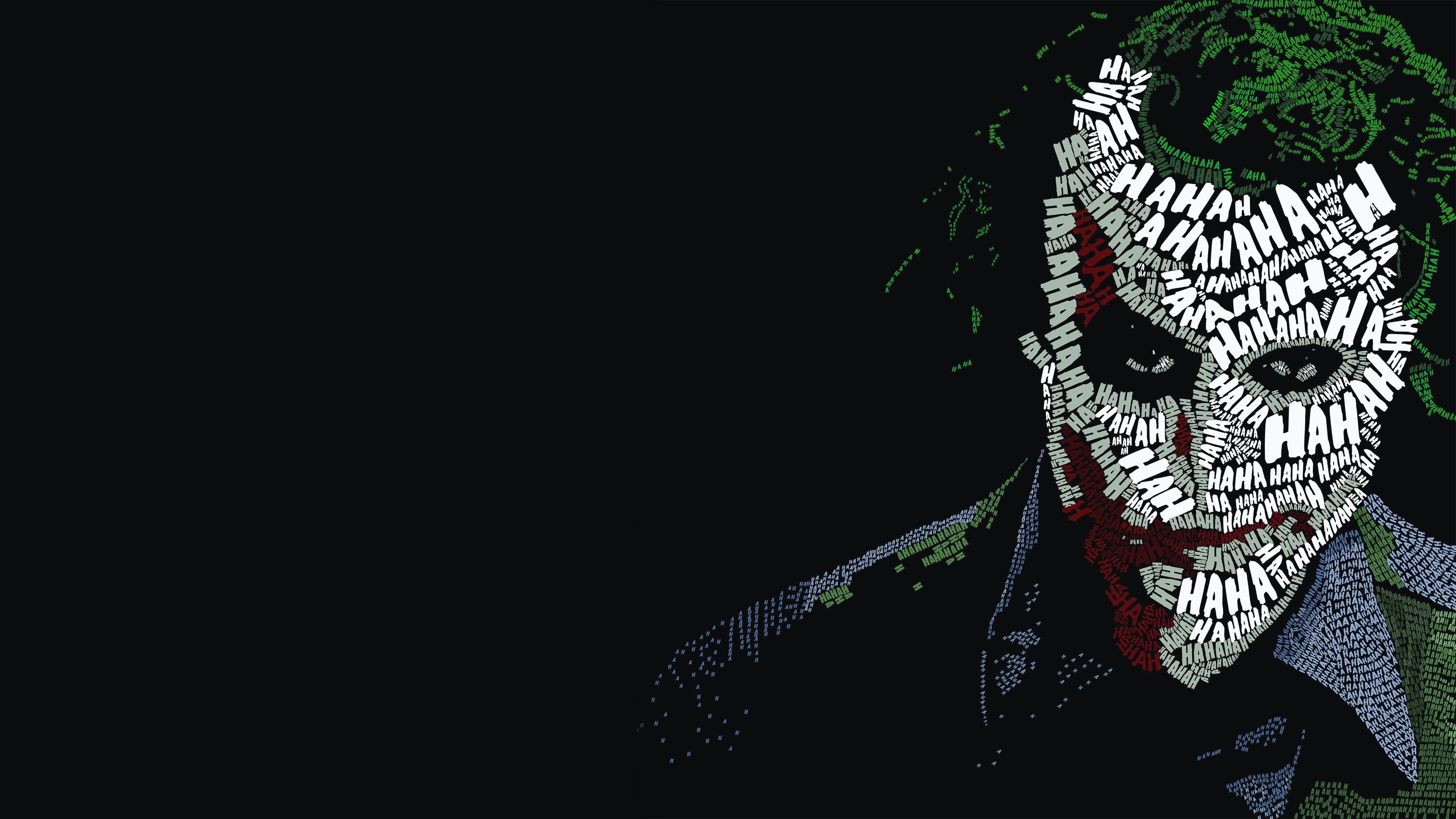 Joker Typography Hd Superheroes 4k Wallpapers Gambar