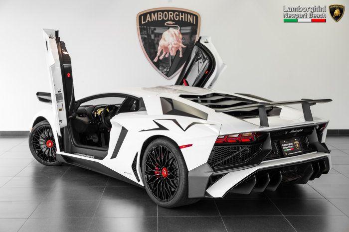 Bianco Isis Lamborghini Aventador Lp750 4 Sv Rear Side Doors Up