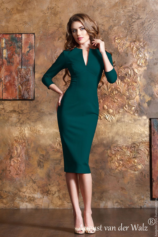 15516029a8bbca8 Купить Платье футляр , рукав три четверти, в миди длине. - купить платье  купить