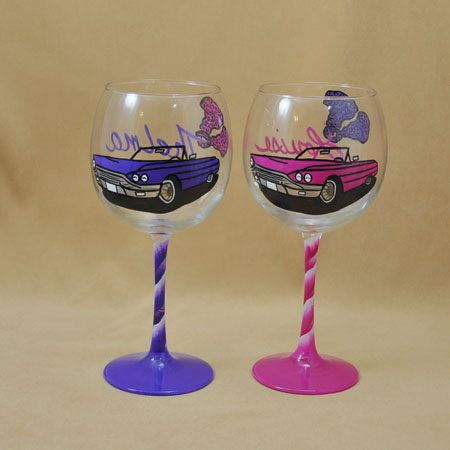 08df6e0c910 Thelma & Louise Wine Glasses - for you and your best girlfriend! Customize  colors and more.