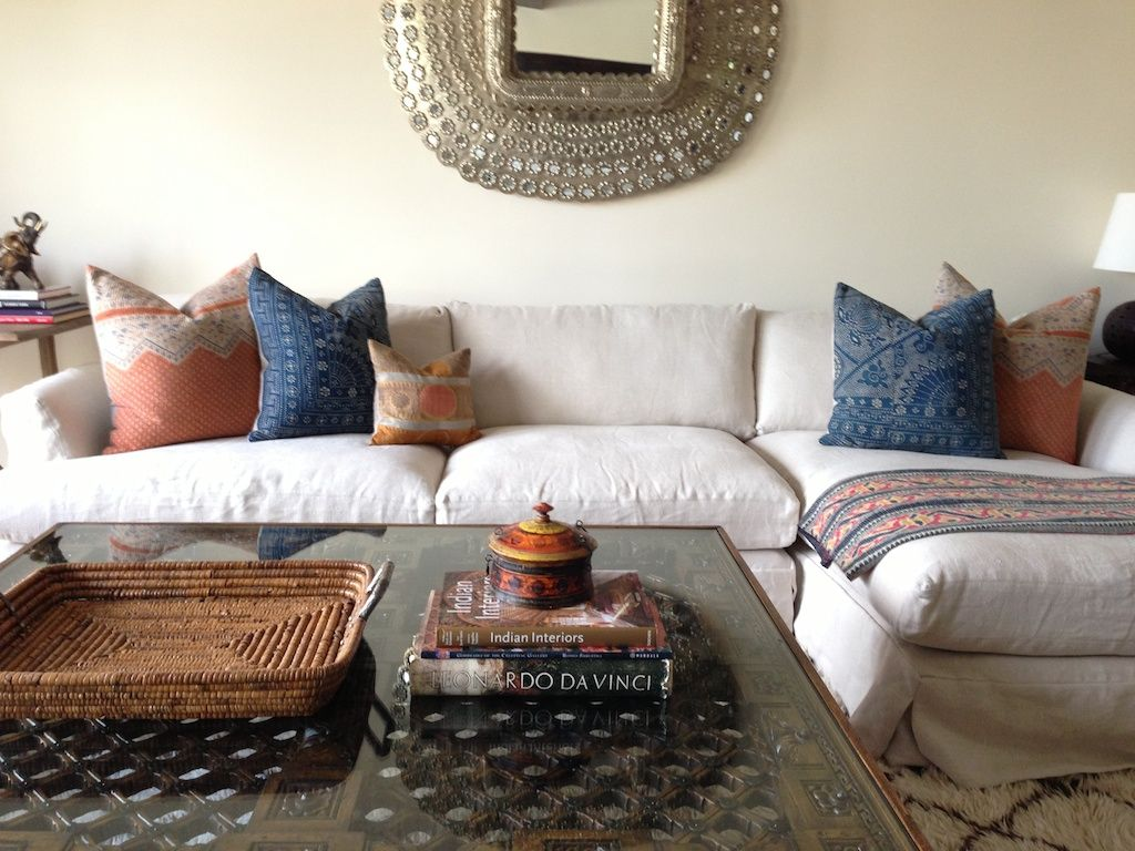 amber interiors, restoriation hardware sectional, linen sofa, california  style, peacock mirror,