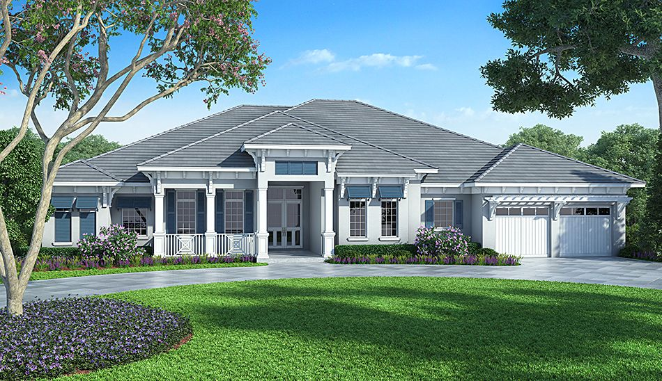Delightful This 4 Bedroom Coastal Contemporary House Plan Features A Great Room,  Dining Room With Wet