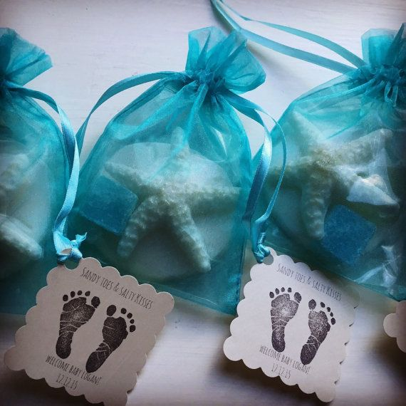 Baby Shower Beach Theme Large Sand Dollar, Starfish And Seaglass Soap  Sachet Favors Lot If 10