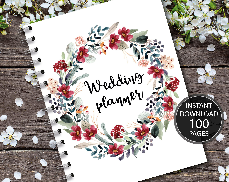 Wedding Planner Printable Wedding Planner Wedding