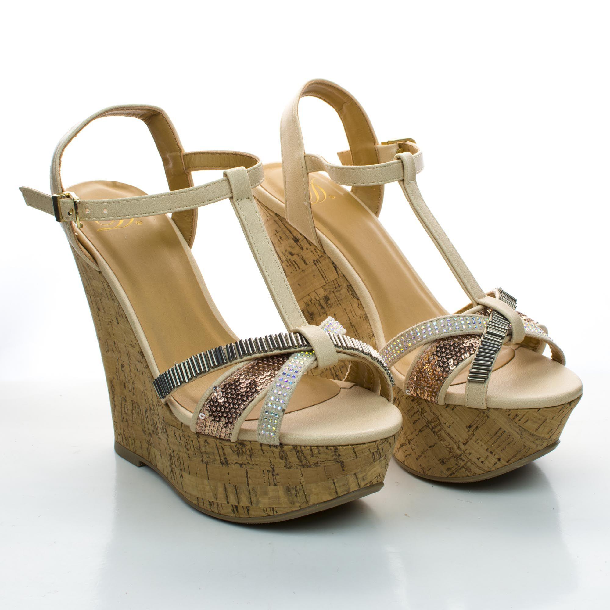 Gemeza Boho Platform Wedge Sandal Tribal Beads & Rhinestone Cork. #women #shoes for $28.99, enter AquaPin during checkout to receive 15% off.