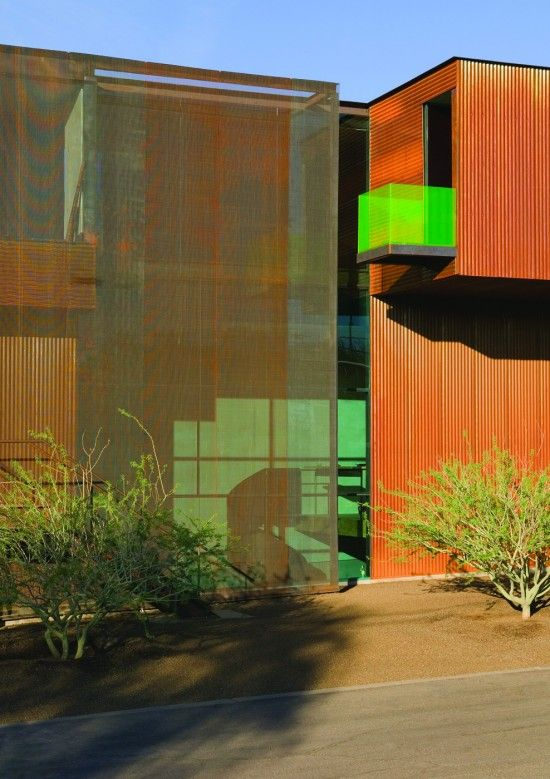 Use of different textures, materials and colour at Xeros Residence, Phoenix, Arizona by Blank Studio Architecture