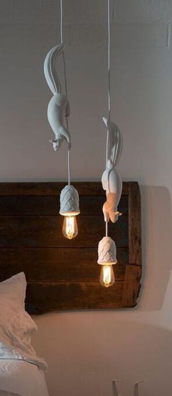 Suspension, écureuil, Sherwood e Robin, blanc, Ø8cm, H115,5cm - KARMAN #décorationmaisoncocooning