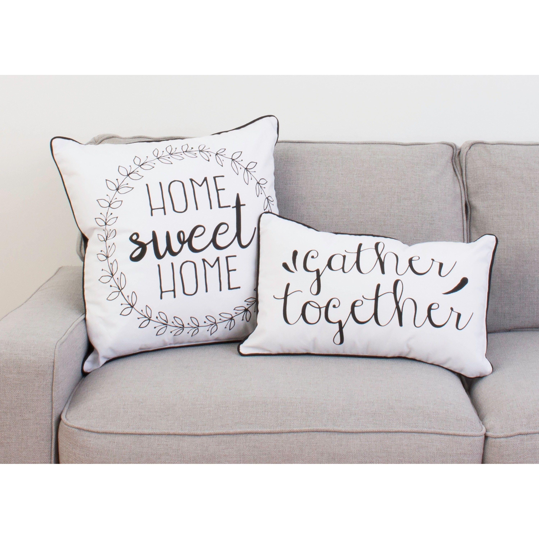 "20"" Haroley Home Sweet Home Wreath Pillow Pillows, Sofa"