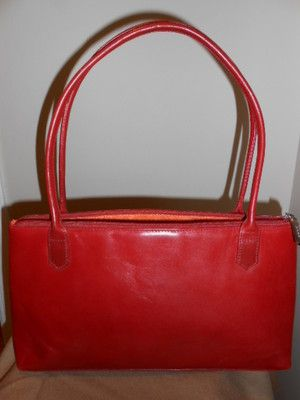 Hobo International Lola Red Leather Purse Handbag