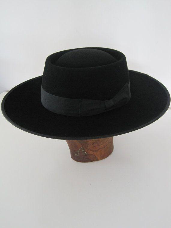 2ad03aaee9d Portuguese Style Ridding Hat Bolero hat Wool felt