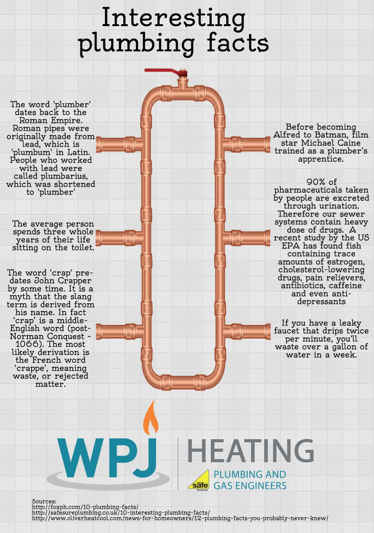 6 Interesting Plumbing Facts Infographic Heating Services
