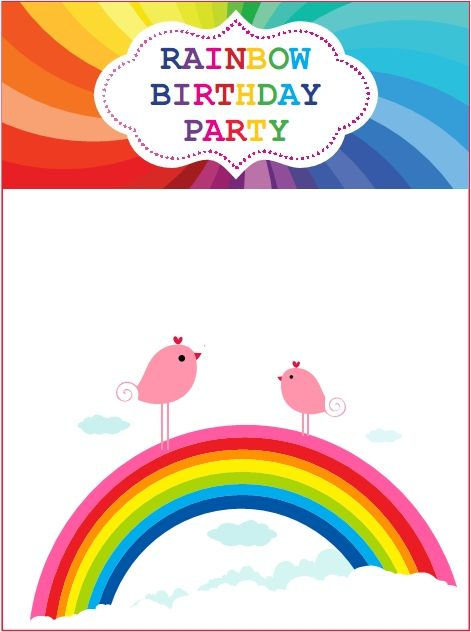 Download Now Rainbow Birthday Invitations Ideas