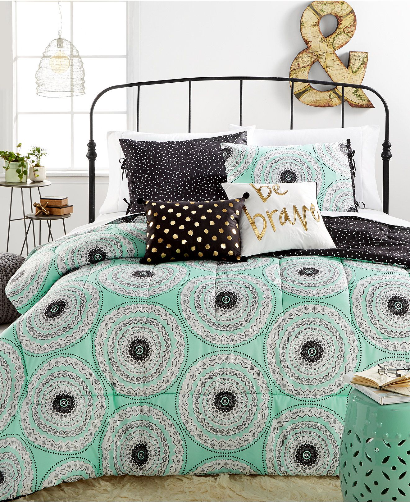 estelle medallion 5-pc. comforter sets - bedding - college