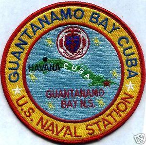 CUBA                         Y US NAVAL STATION GUANTANAMO US NAVY BASE PATCH