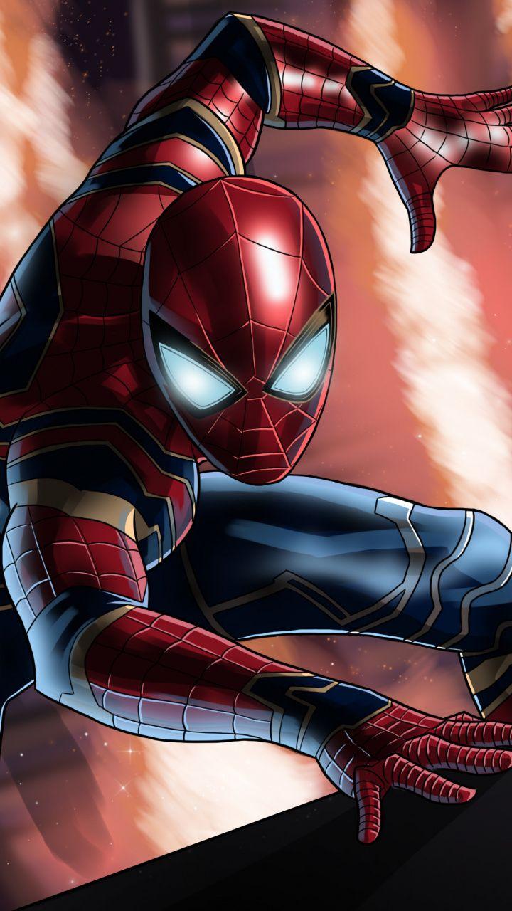Spider-man, Avengers: Infinity War, movie, art, 720x1280