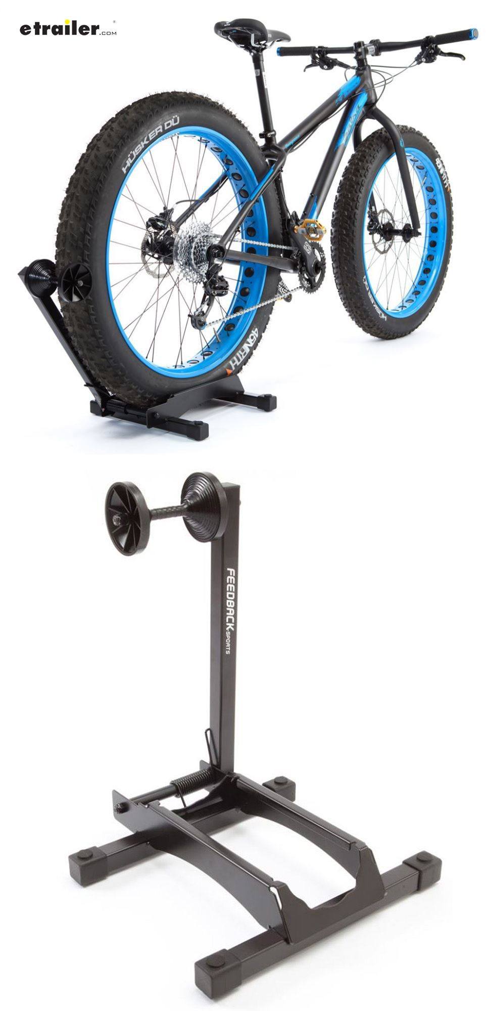 Feedback Sports FATT RAKK Bicycle Storage Stand Specifically Designed For  Fat Bikes Spring Loaded Arm Holds