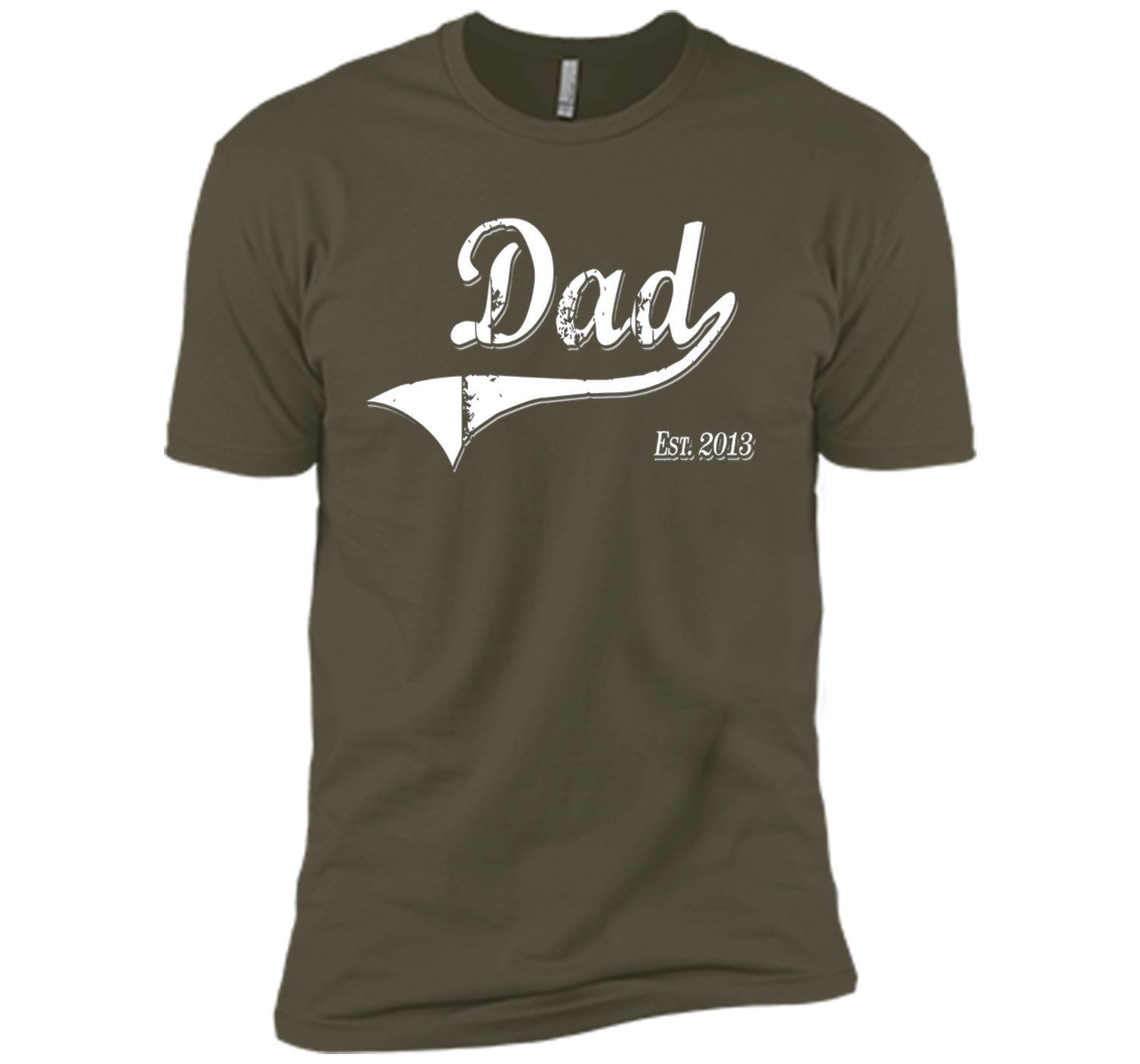 Dad Est. 2013 T Shirt Fathers Day Gift for Daddy New Gift