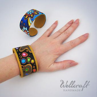 Cuff Bracelet tutorial - interesting way to construct with a metal mesh.