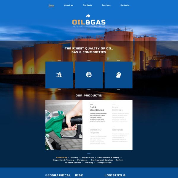 Oil Gas Company Website Template is part of Website template, Responsive website template, Business website design templates, Corporate website design, Website template design, Business website design - Before you purchase it, take a closer look at this beautiful Oil Gas Company Website Template (52502)  learn tech characteristics and requirements, read user reviews, ask a question