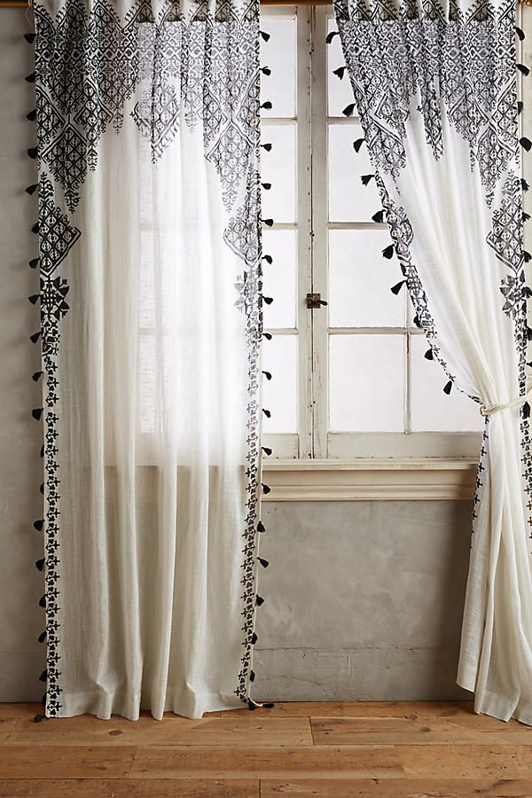 No Sew Lace Curtains Curtains Living Room Bohemian Curtains