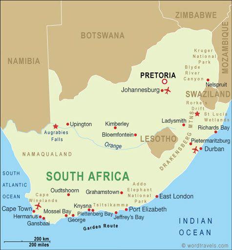 Jeffreys Bay South Africa Map | autobedrijfmaatje