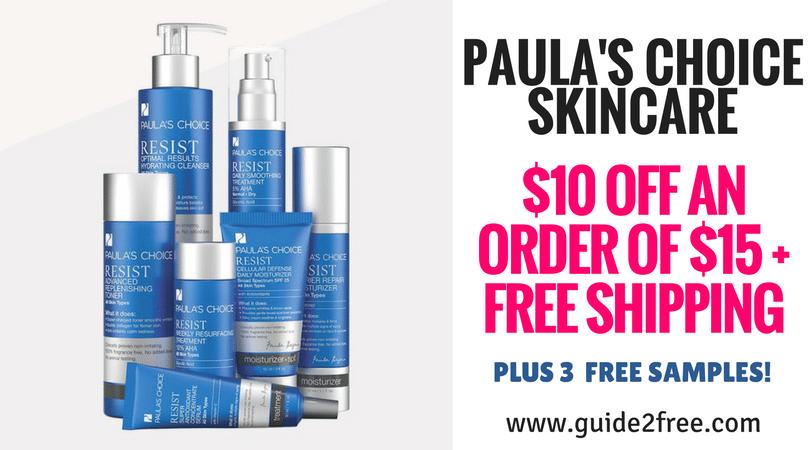 Paula S Choice Skincare 10 Off An Order Of 15 Free Shipping Free Beauty Samples Skin Care Paula S Choice Skincare