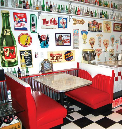 Nice New Hot Rod Diner Booth Set Restaurant Booths Vintage | EBay
