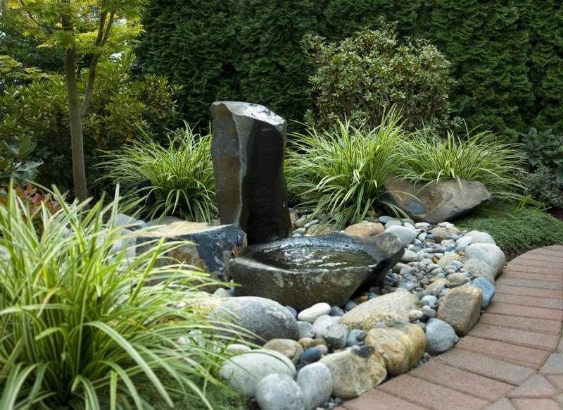 gartenbrunnen aus stein für den garten im natur-look | wasser im, Garten ideen