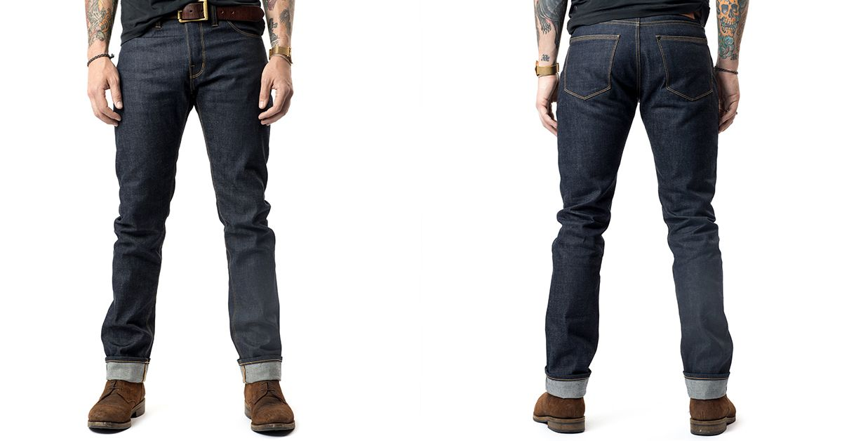 e98bc464 Shockoe Atelier Introduces Their Slim Montrose Jean   raw dry faded ...