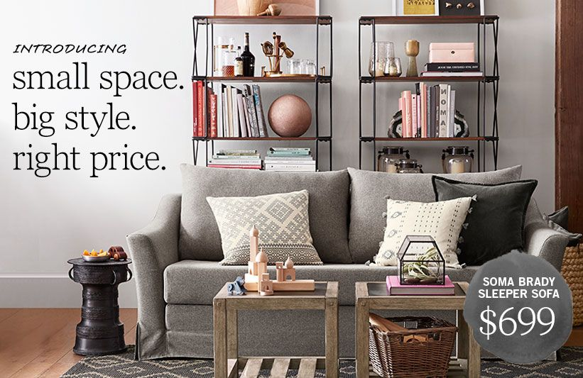 small space. big style. right price. #mypotterybarn | Small Spaces ...
