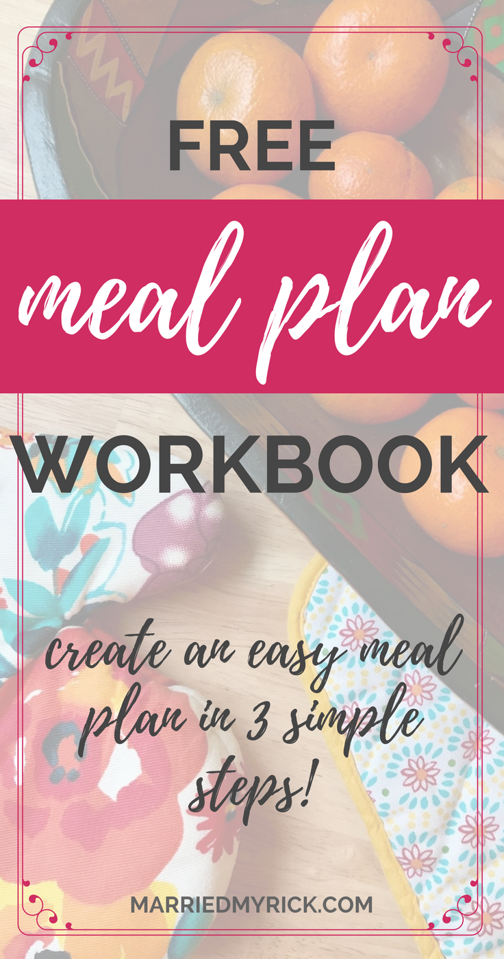 Workbooks receiving love workbook : How to Create a Flexible Meal Plan in 3 Easy Steps | Easy meal plans