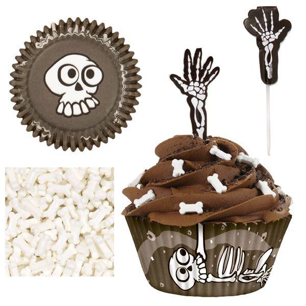 skeleton cupcake combo pack halloween cupcakes decorationcupcake decorationswilton